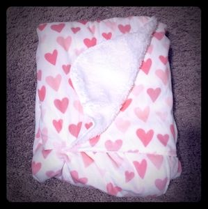 Other - Pink Hearts Plush Baby Blanket